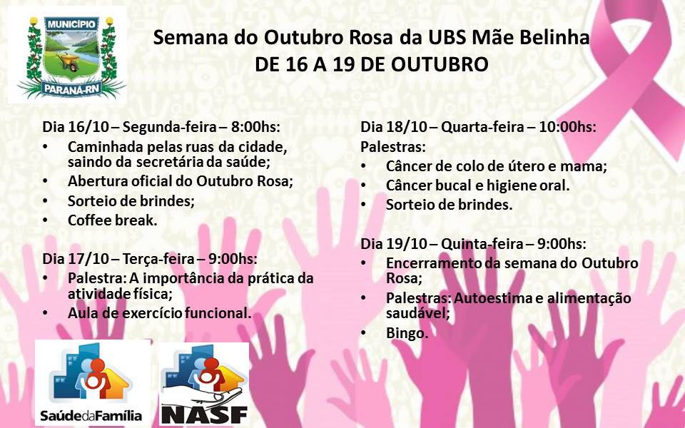 Outubro Rosa-Caiçara-Paraná/RN