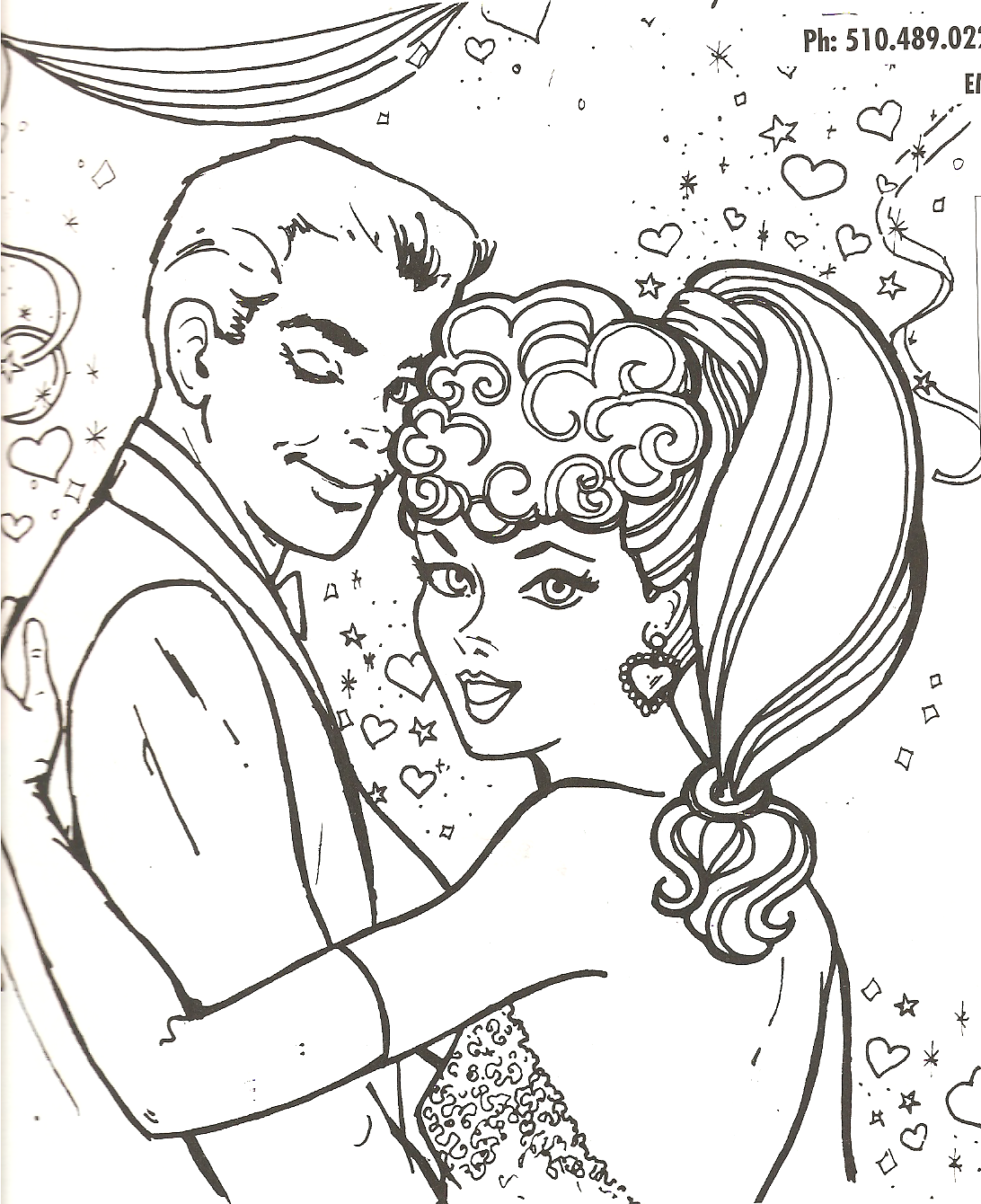 bing barbie ken coloring pages - photo#15