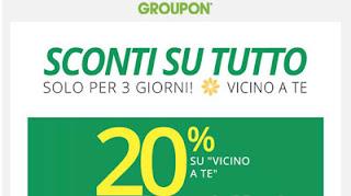 Groupon 20% di sconto
