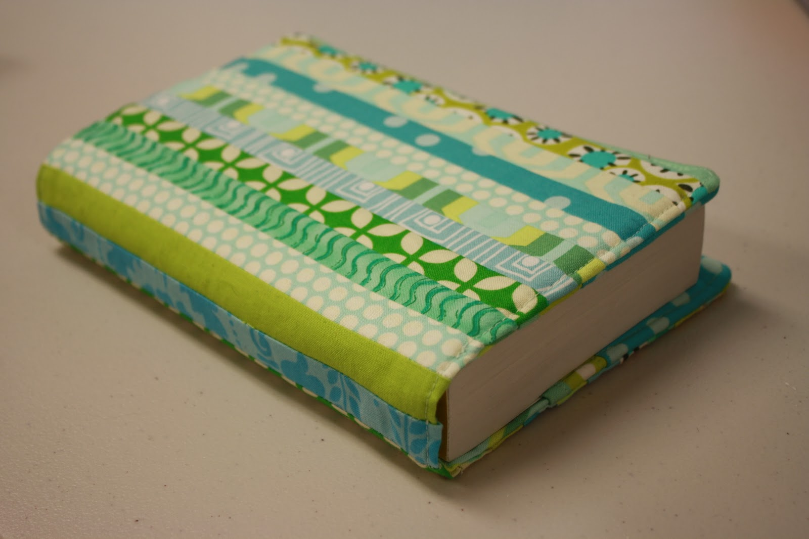 Quilted Book Cover Pattern : Threaded mess quilted paperback book cover part