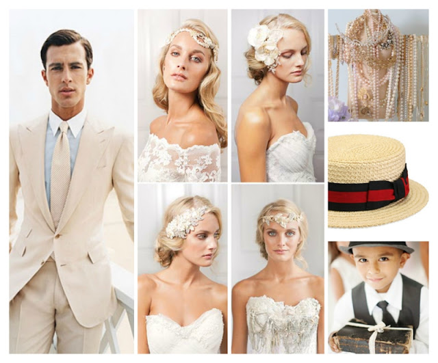 vintage headpiece, art deco wedding