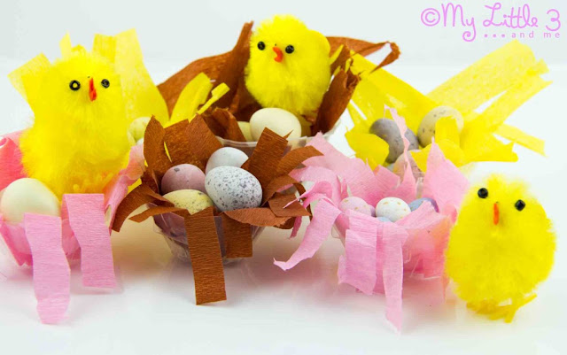 Chicks in a nest craft