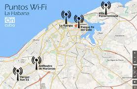 Mapa de puntos wifi Habana