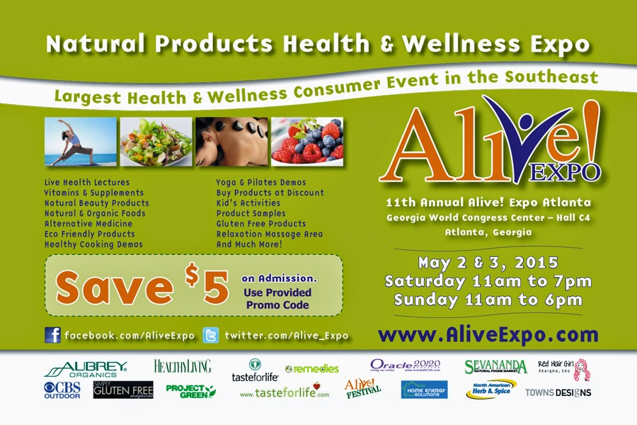 Save $5 on Admission to Alive! Expo in Atlanta  via www.productreviewmom.com