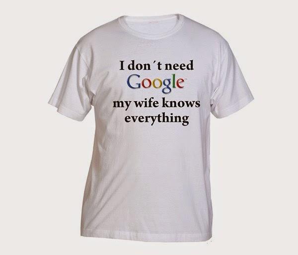No necesito Google mi mujer lo sabe todo