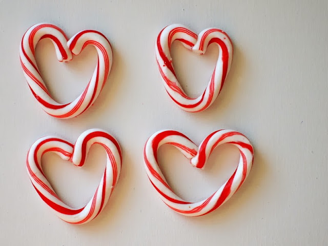 Bend a candycane to look like a heart