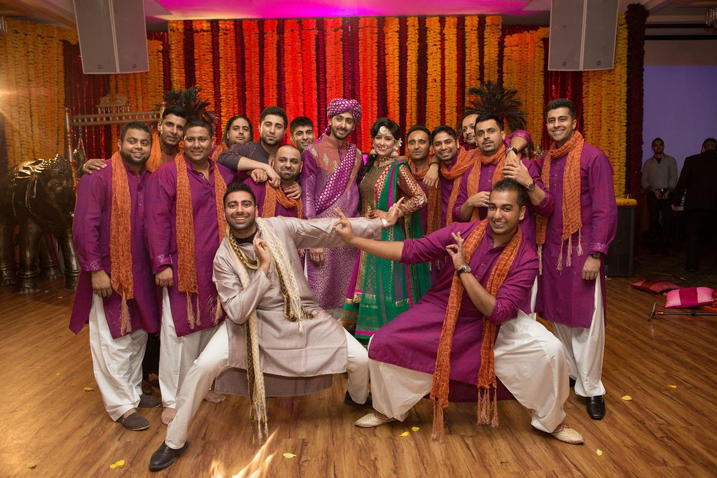 Indian wedding, decor, mehndi, groomsmen