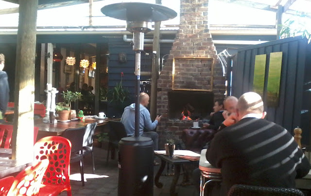 Geelong Cafe Go Court Yard, Fire Place