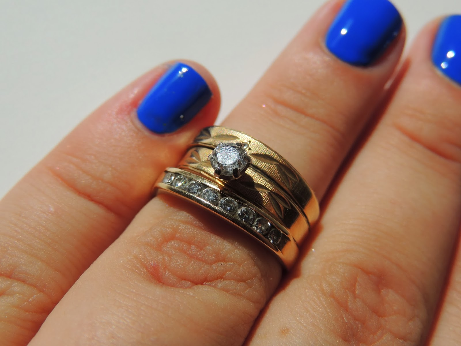 Warning: The Photos Of My Mom's Wedding Ring Set And Anniversary Band Are  Quite Dirty However, It Couldn't Be More Perfect For This Blogpost!!