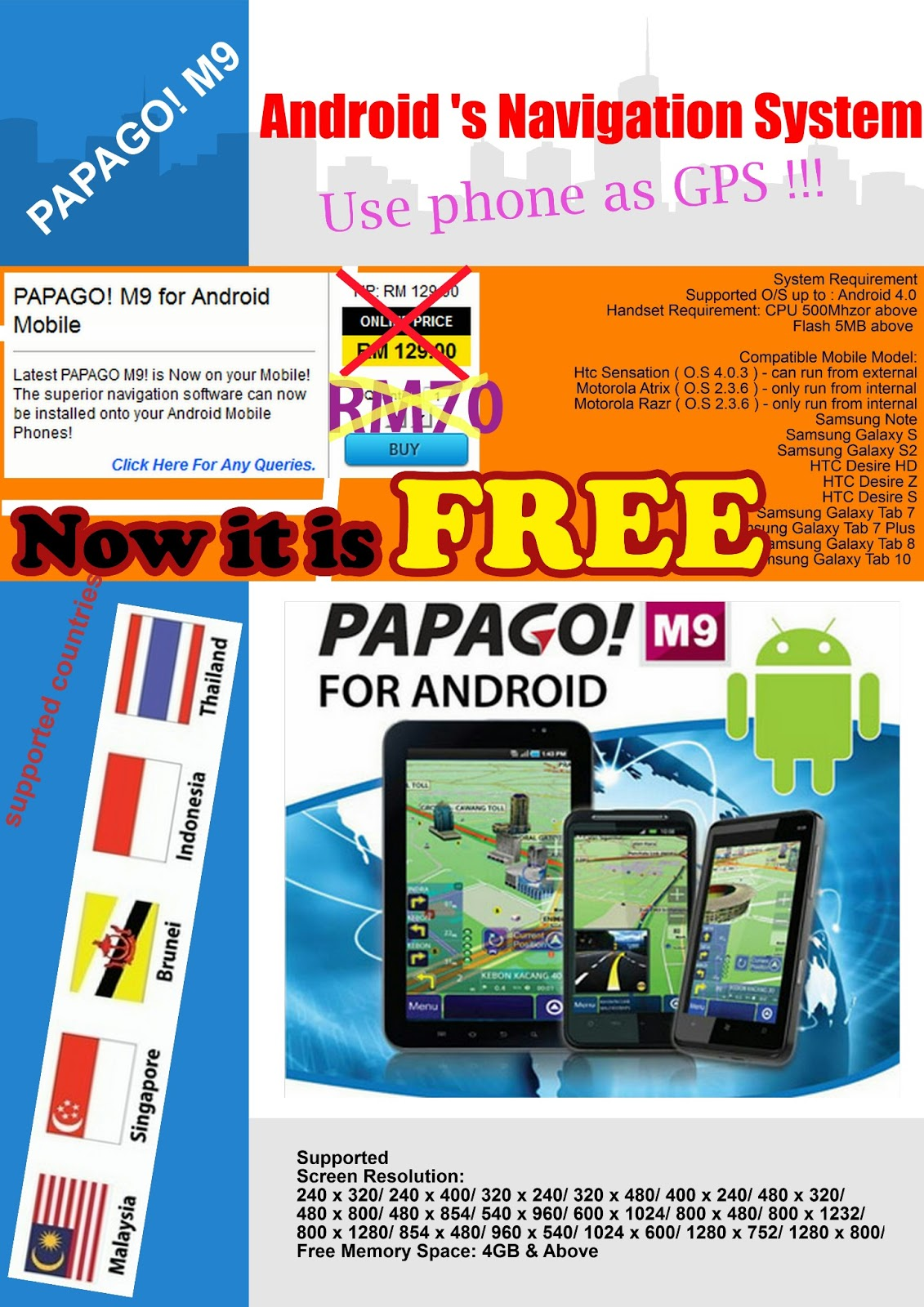 Phone Download Gps For Android Phone papago m9 gps navigation for all android phones
