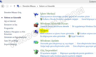 Windows 8 Sistem