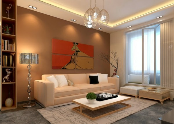 22 cool living room lighting ideas and ceiling lights for Living room ceiling lights