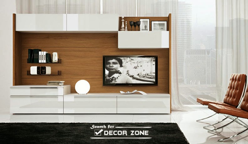 Modern tv units 20 designs and choosing tips for Living room tv designs modern