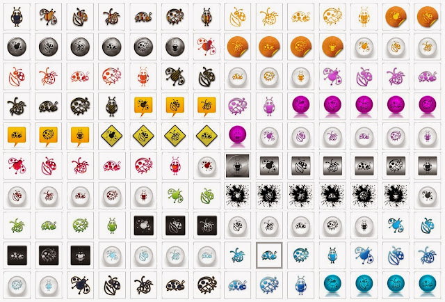 joaninhas icones ladybug icons