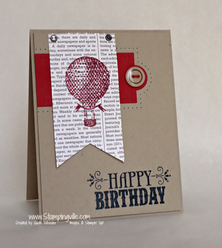 Stampin' Up! You're Amazing Stamp Set - Masculine Birthday Card