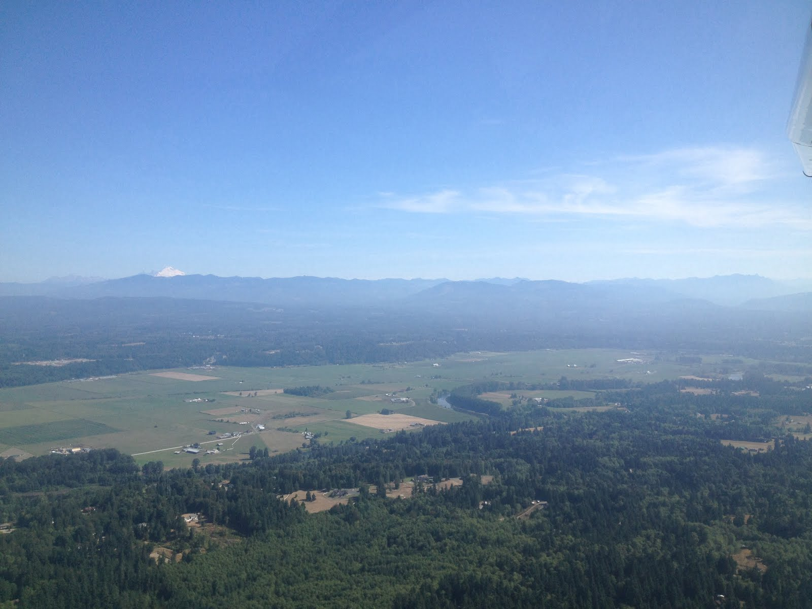 Yesterday's flight to Bellingham.
