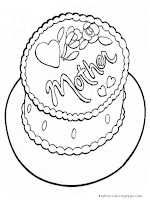 Happy Mother's Day Cakes Coloring Pages