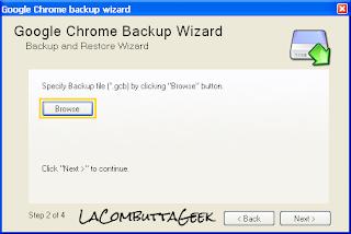 Selezioniamo il file di backup da ripristinare
