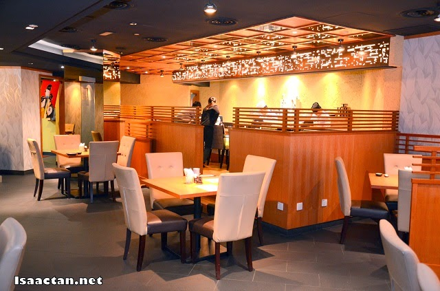 The rather comfortable ambiance of Takumi Japanese Restaurant