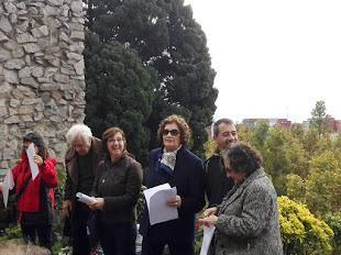 Pese a la lluvia, celebramos el homenaje a Ferrer y Guardia, Durruti y Ascaso