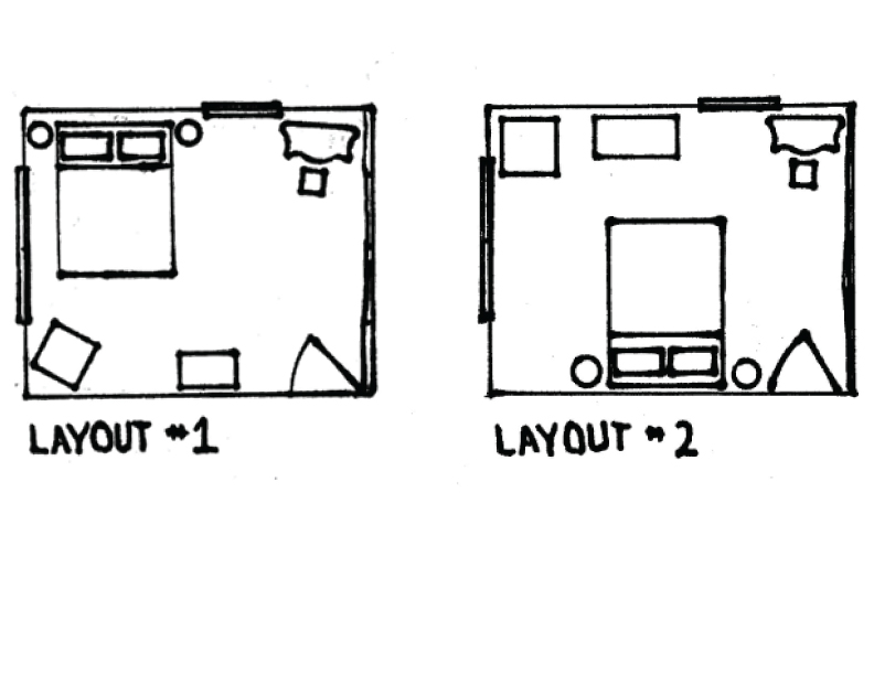 Bedroom layout sketch templates for Bedroom design template