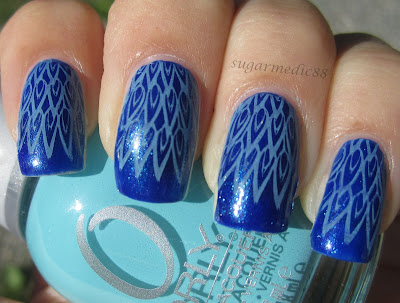 Blue Bundle Monster Peacock Nails