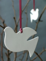 Chrismon, christian symbolism, Jesus, Christmas, Descending Dove