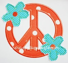 Raggedy Flower Peace Sign