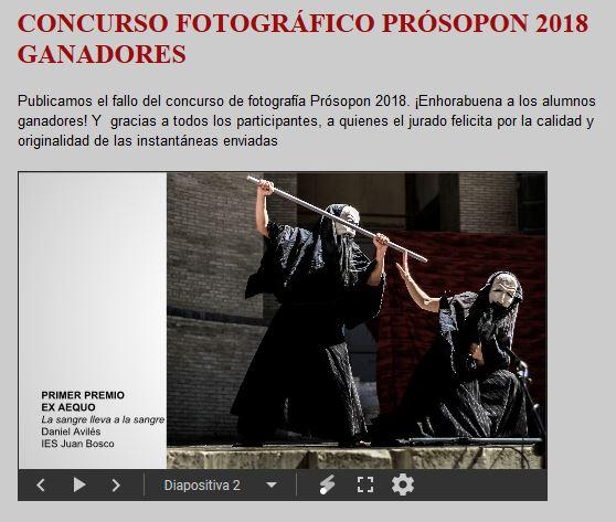 Ganadores concurso fotográfico 2018