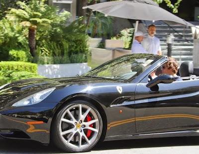 The cars of Harry Styles Ferrari California