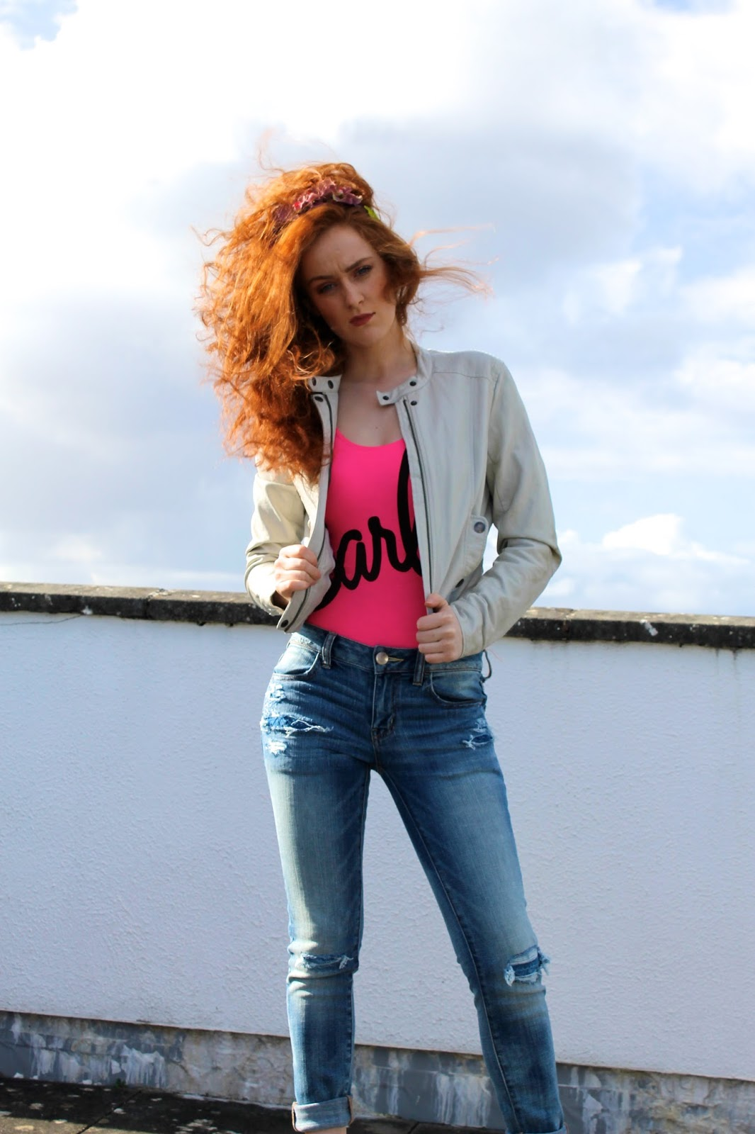 Stephanie Casserly taking part in #AEODenimDiaries