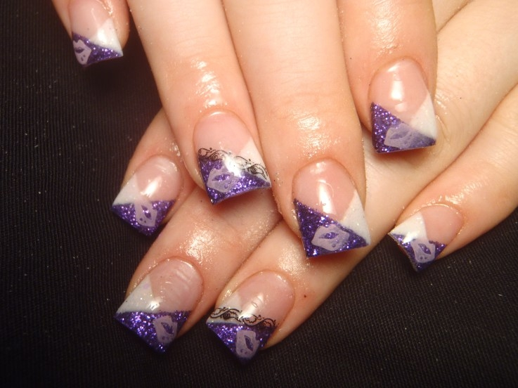Fall Acrylic Nail Designs http://makeup-nailart.blogspot.com/2011/08/colorful-french-nail-art-designs-2011.html