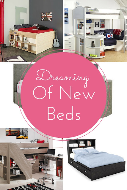 My New Bed Wishlist | Morgan's Milieu: Ideas for new beds for all of us, some have a TV appearing as if from no where!