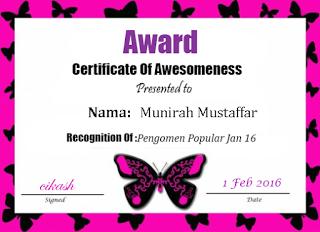 Award Januari 2016