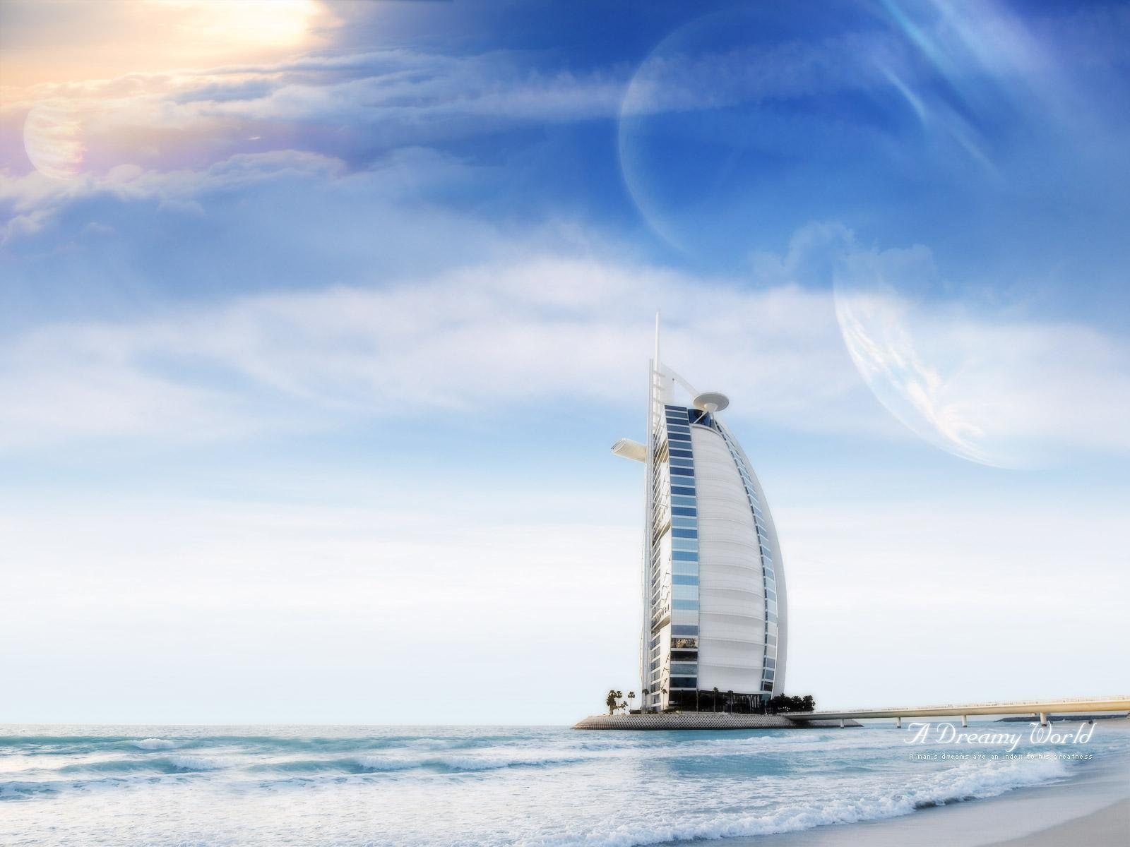 World visits dubai wallpaper images review for Al burj dubai