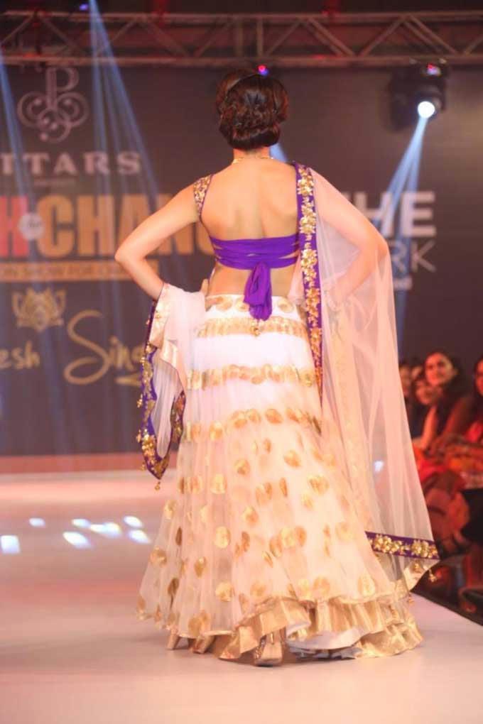 Shilpa Reddy's Back Blouse Design
