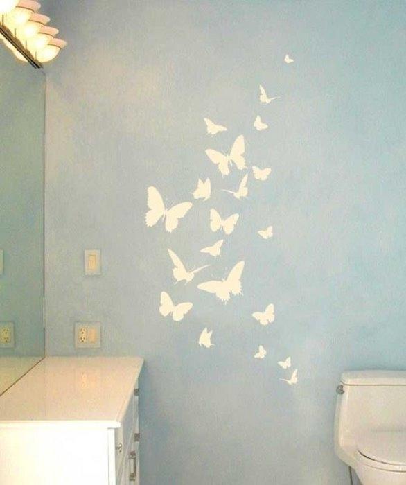 Декор бабочками на потолке своими руками