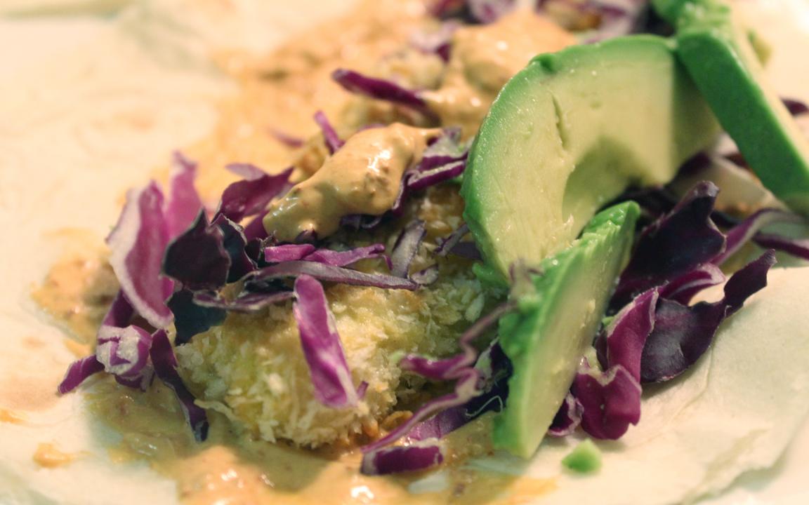 Pretty Posy: {Crispy Chicken Tacos with Avocado, Cabbage and Chipotle ...
