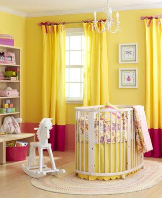 Dormitorio amarillo colores bebe