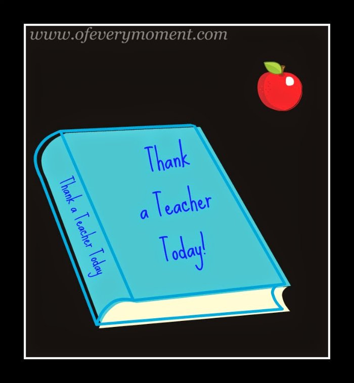 thank a teacher, teacher appreciation