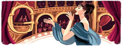 Google Doodle - ulang tahun maria callas