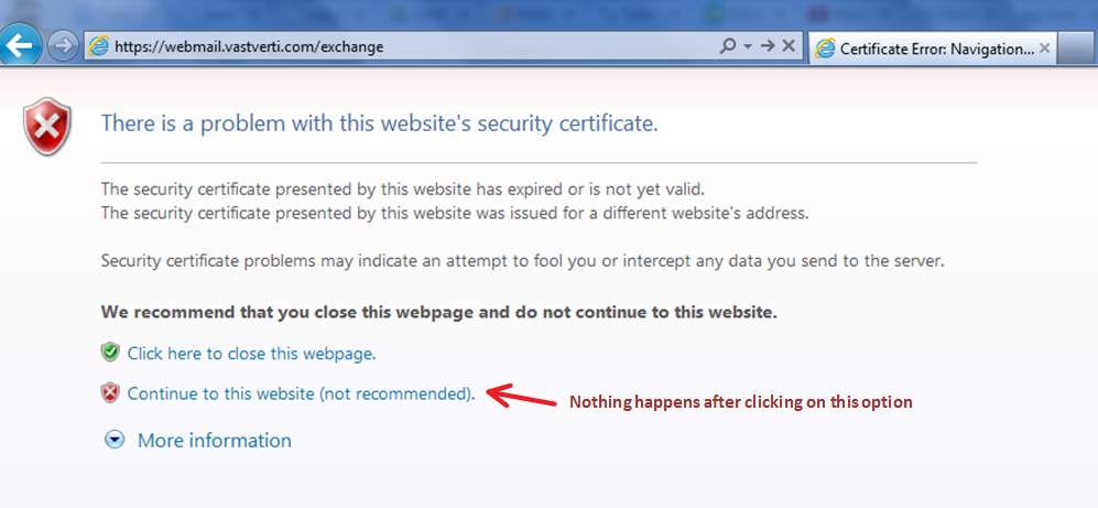 TeamXchange: IE- There is a problem with this website\'s security ...