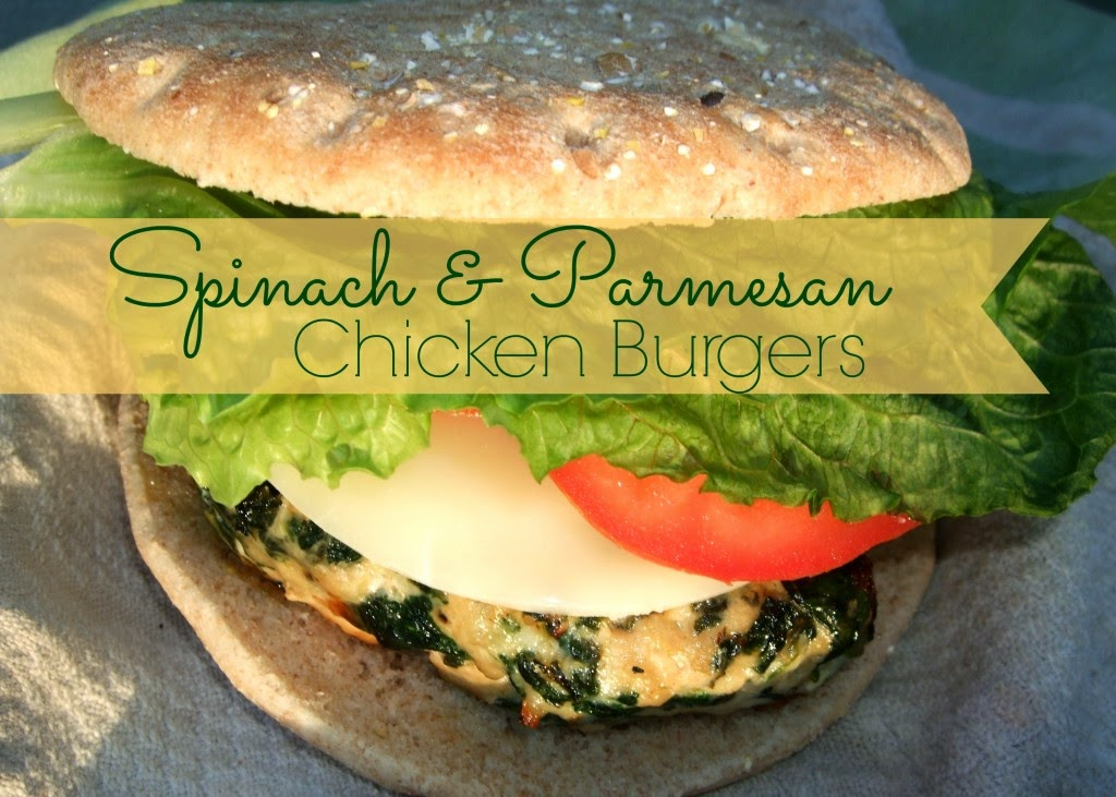 Spinach & Parmesan Chicken Burgers, shared by Far From Normal