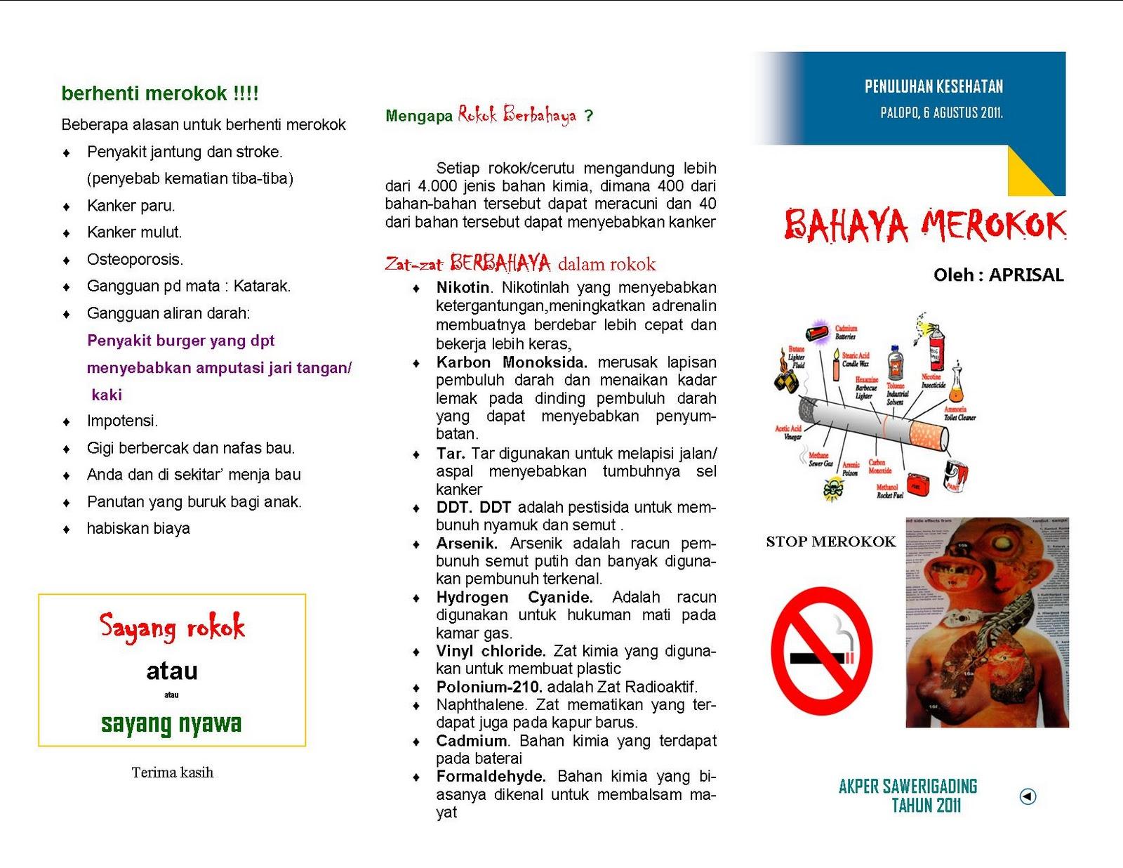 bahaya merokok Info & artikel kesihatan : tabiat merokok, kesan & akibat bahaya merokok (kandungan rokok) bukan sahaja kepada perokok malah kepada orang disekeliling.