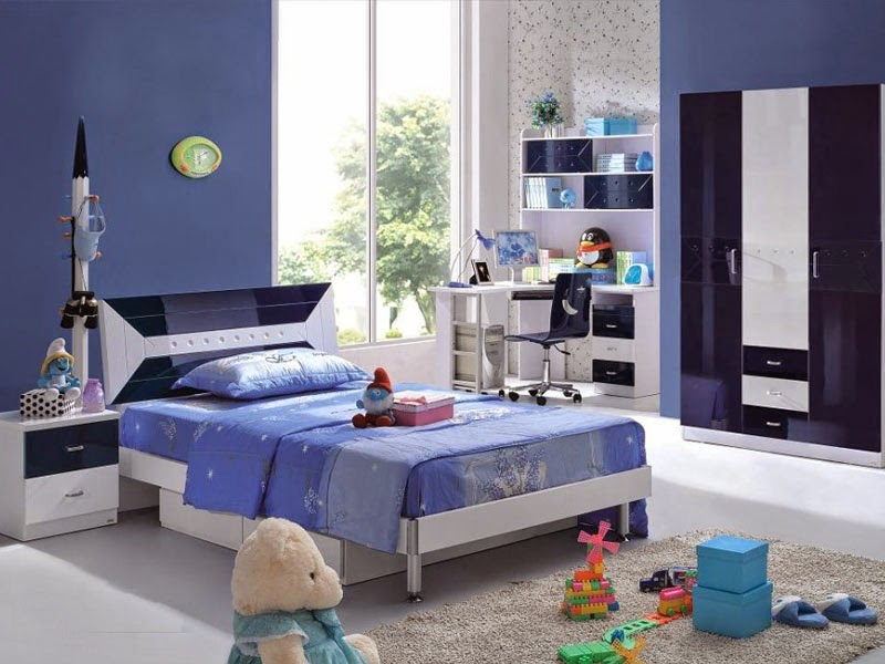 Desain Kamar Tidur Anak Laki-Laki Berwarna Biru