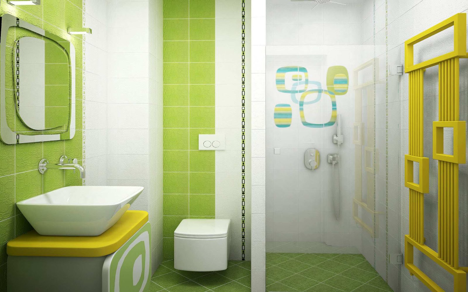 Modern homes interiors washrooms tiles designs setting ideas