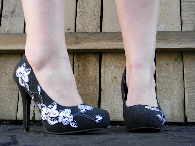 DIY Lace Applique Pumps