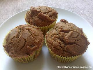 rizsliszt muffin, datolyaszirup recept, csicseriborsóliszt recept