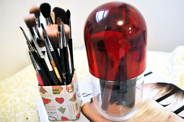 Homemade Makeup Brush Containers