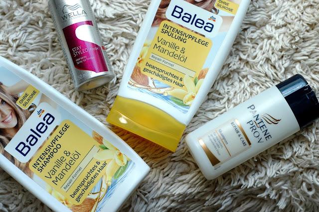 September 2015 aufgebraucht - Balea Shampoo und Spülung und Pantene Shampoo